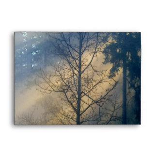 TREE in SUNLIT FOG Greeting Card Envelope