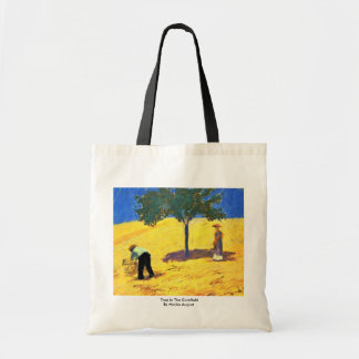 Tree In The Cornfield By Macke August Canvas Bags