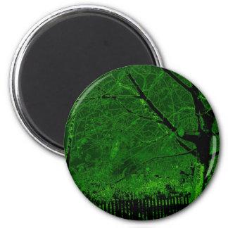 tree in the dark-26a 2 inch round magnet