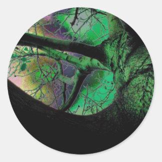 Tree in The Dark-63 Classic Round Sticker