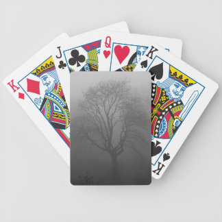 Tree in the fog bicycle playing cards