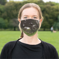 Tree in the golf course cloth face mask
