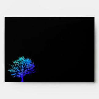 Tree in the Woods Bar Bar Mitzvah Black Envelope