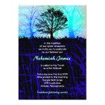 "Tree in the Woods Bar Bar Mitzvah Invitation 5"" X 7"" Invitation Card"