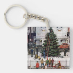 Tree in Town Square Keychain