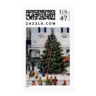 Tree in Town Square Postage