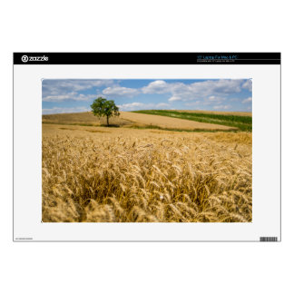 Tree In Wheat Field Landscape Laptop Decals