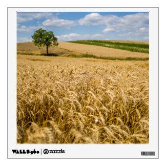 Tree In Wheat Field Landscape Wall Sticker