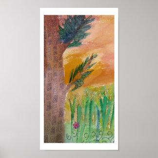 Tree in Wheat Field Print