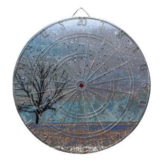 Tree in Winter Dartboard