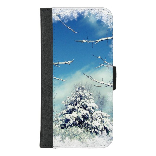 Tree in Winter Snow iPhone 8/7 Plus Wallet Case