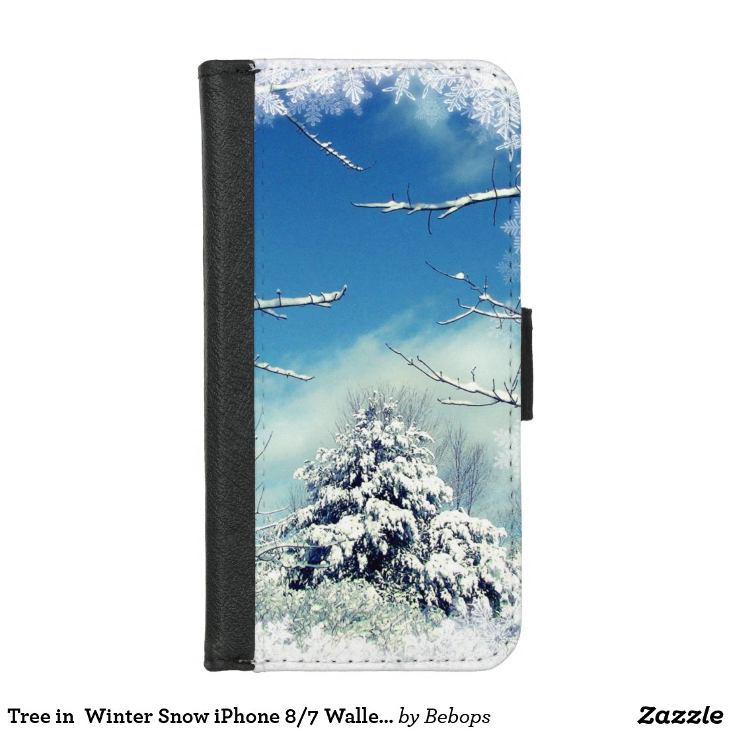 Tree in  Winter Snow iPhone 8/7 Wallet Case