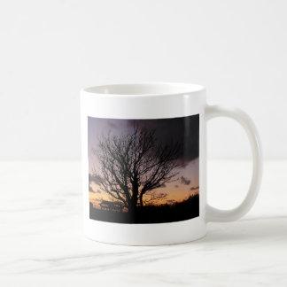 Tree in Winter Sunset Mugs