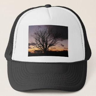 Tree in Winter Sunset Trucker Hat