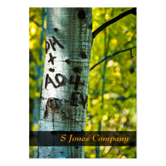 Tree Initials Large Business Card