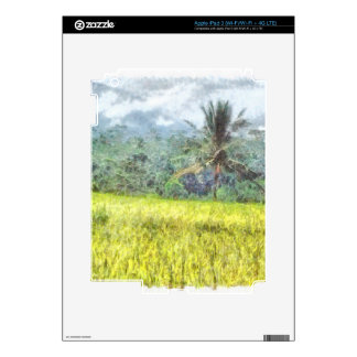 Tree is the border between farm and forest iPad 3 decal