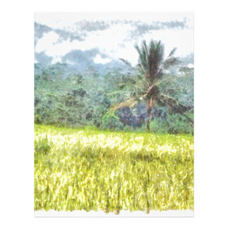 Tree is the border between farm and forest letterhead