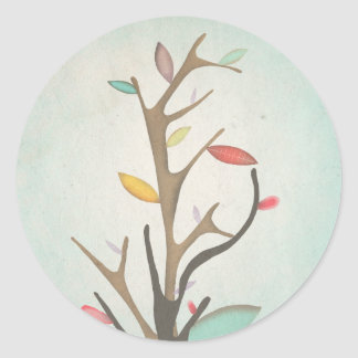 Tree Japan Branches Delicate Classic Round Sticker