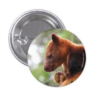 Tree Kangaroo Badge Button
