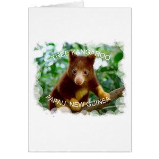 Tree kangaroo greeting card