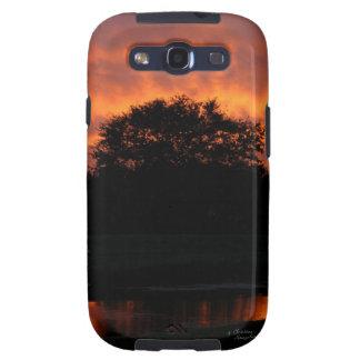 Tree lake sunset Galaxy S3 Case Samsung Galaxy S3 Cover