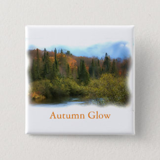 Tree Landscape Autumn Glow Button