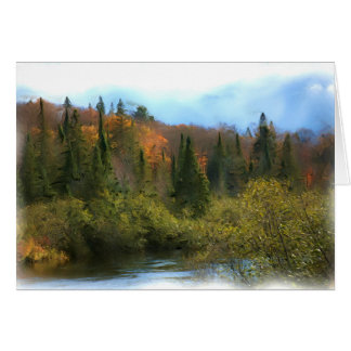 Tree Landscape Autumn Glow Greeting Card