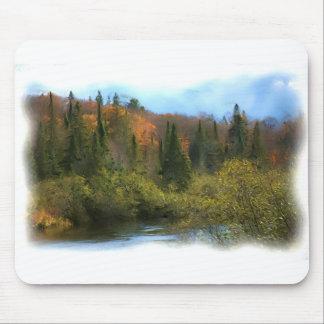 Tree Landscape Autumn Glow Mouse Pad