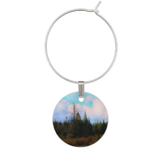 Tree Landscape Somewhere out there Wine Glass Charms
