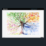 """Tree Laptop Skin<br><div class=""""desc"""">Hand painted illustration of four season tree.Picture created with watercolors. &#169; and &#174; Bigstock&#174; - All Rights Reserved.</div>"""