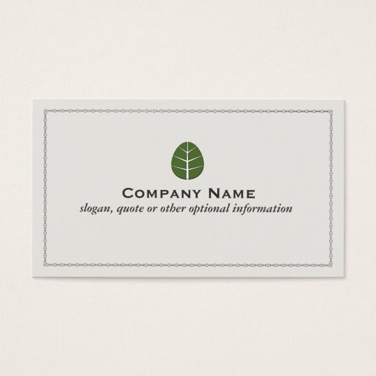 Tree Leaf Landscaping Service Business Card