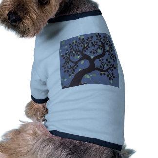 Tree Leaf Winter Romantic Vintage Rock Styles Dog T Shirt