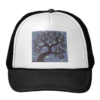Tree Leaf Winter Romantic Vintage Rock Styles Mesh Hats