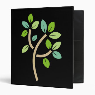 Tree Leaves 3 Ring Binder