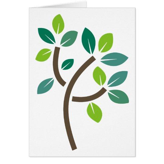 Tree Leaves Card