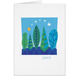 Tree Leaves Peace Card