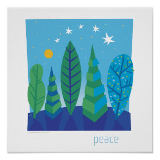 Tree Leaves Peace Poster