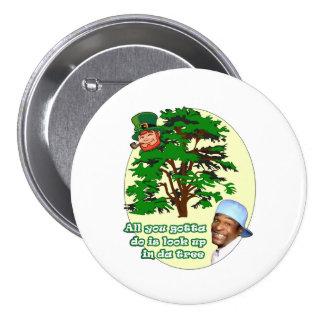 Tree Leprechaun 3 Inch Round Button