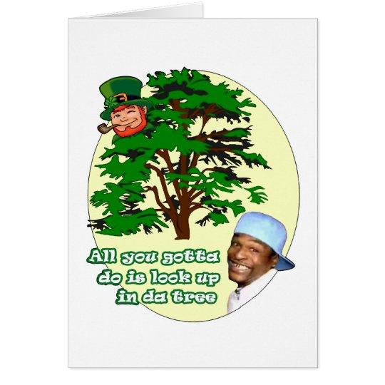 Tree Leprechaun Card