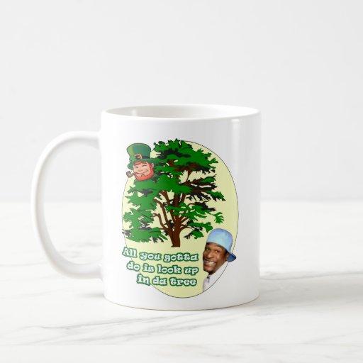 Tree Leprechaun Classic White Coffee Mug