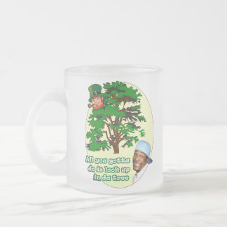 Tree Leprechaun Frosted Glass Coffee Mug