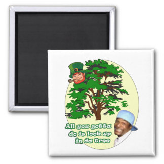 Tree Leprechaun Magnet