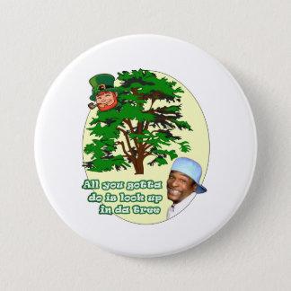 Tree Leprechaun Pinback Button