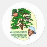 Tree Leprechaun Round Sticker