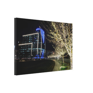 Tree Lights At Klyde Warren Park Canvas Print