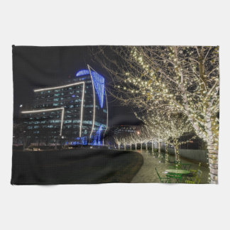 Tree Lights At Klyde Warren Park Towel
