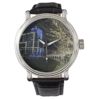 Tree Lights At Klyde Warren Park Wrist Watch
