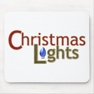 Tree Lights - Christmas Mousepad