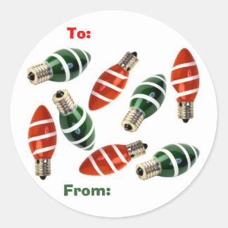 Tree Lights Classic Round Sticker