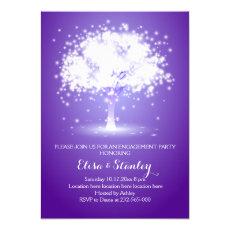 Tree & lights purple wedding engagement party 5